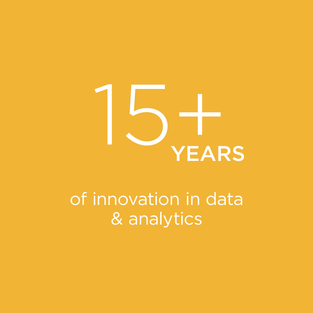 15+ Years of Innovation in data & analytics
